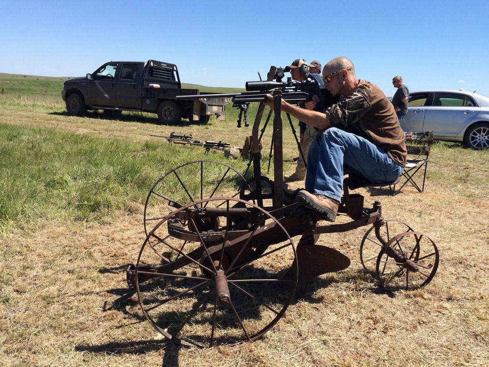 shooting stance off metal frame